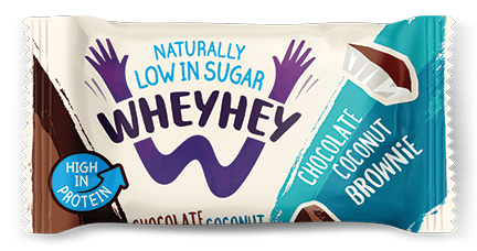Wheyhey Chocolate Coconut Brownie 40g