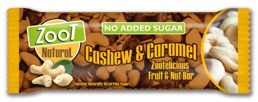 Zoot Natural Cashew & Caramel No Added Sugar Fruit & Nut Bar