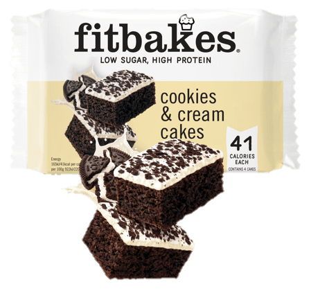 Fitbakes Cookies and Cream Cakes