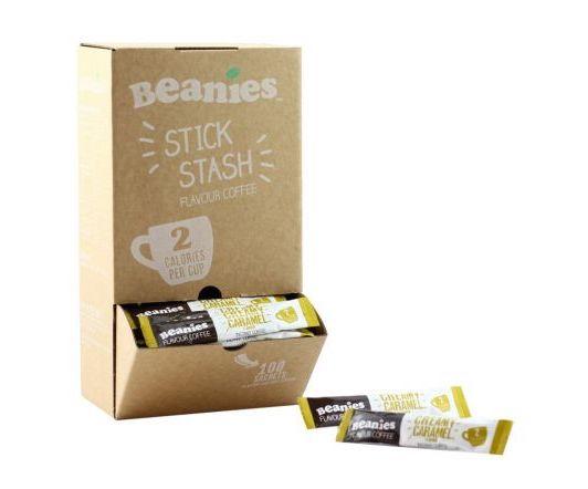 Beanies - 100 Creamy Caramel Stick Sachets