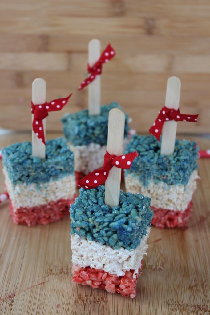 patriotic rice crispies