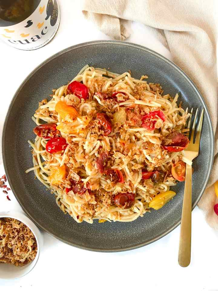 10-minute hearts of palm pasta