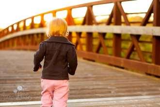 SugaShoc_Photography_Family_Photographer_Bucks County_Doylestown_PA_shoreline_park_baby_girl_on_bridge_sunset