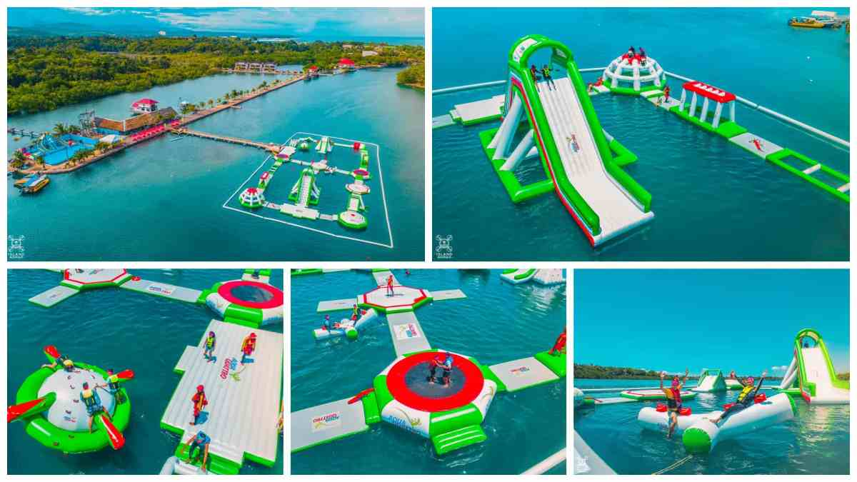AquaQuattro Inflatable Sports Water Park at Papa Kit's Liloan