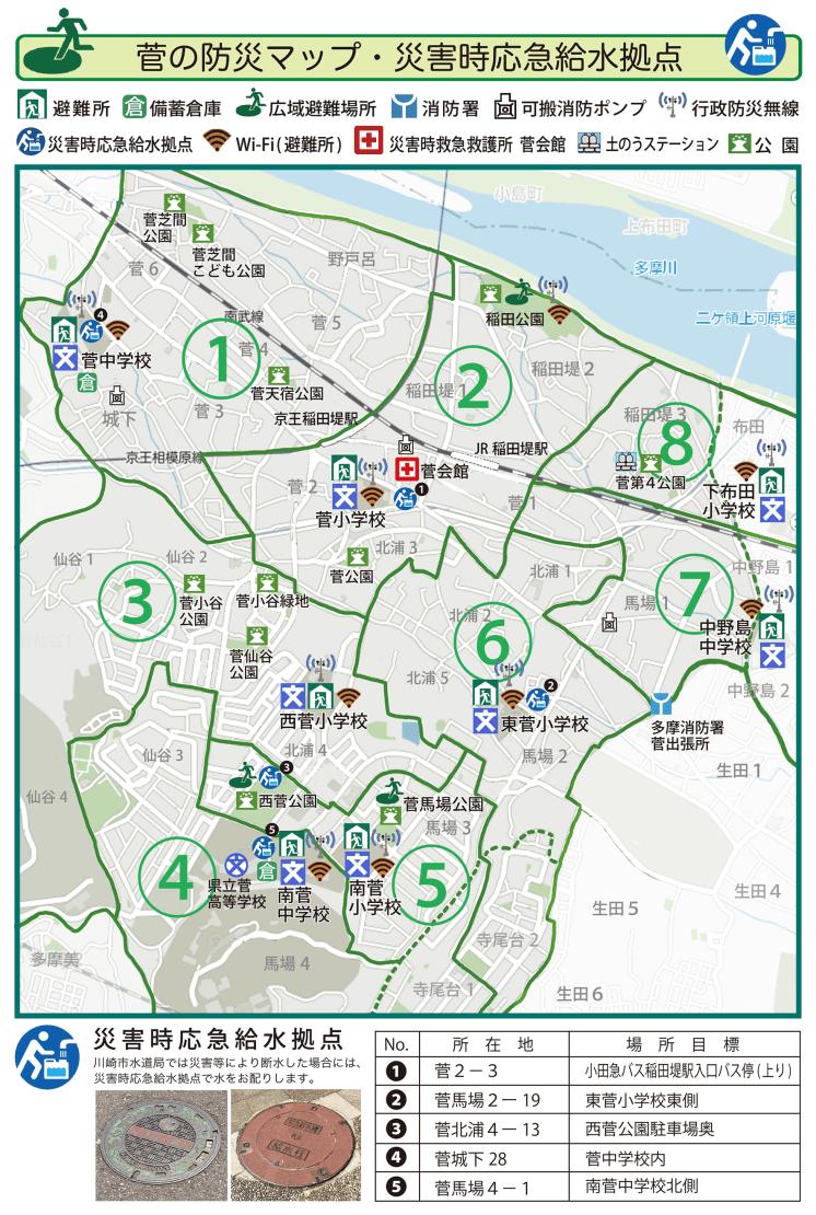 菅の防災マップ