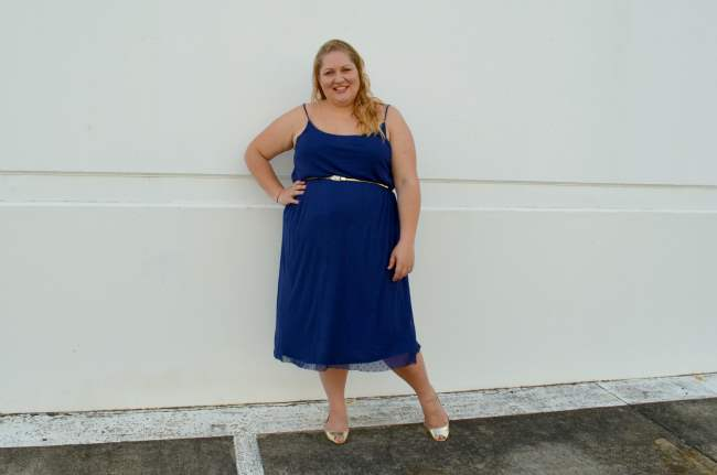 plus size asos midi dress with belt 002