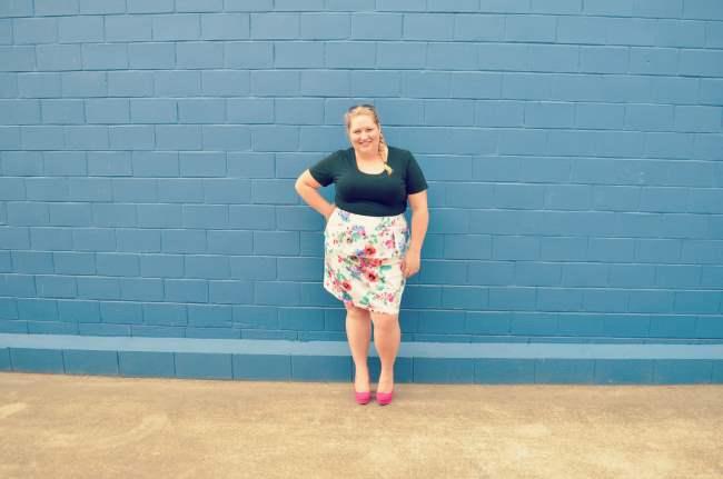 plus size eShakti peplum skirt outfit 002