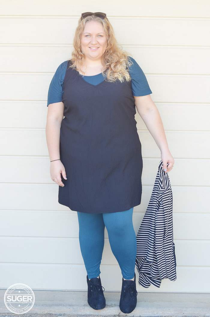 plus size asos shift dress for winter-5
