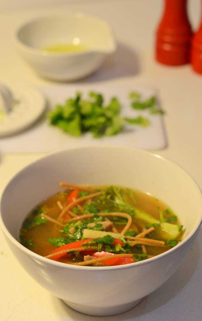 pork thai inspired noodle soup-13