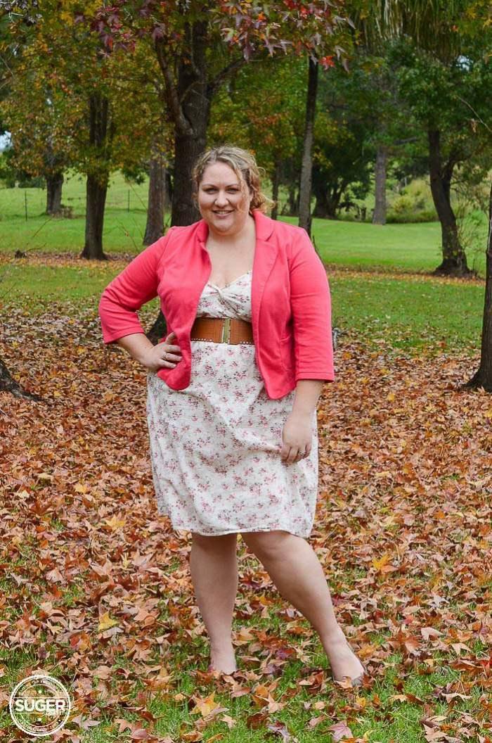 floral dress blazer outfit plus size-5