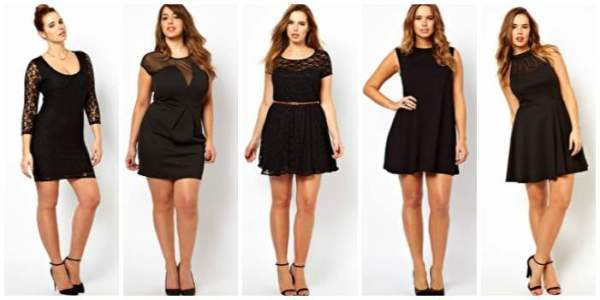 little black dress asos curve