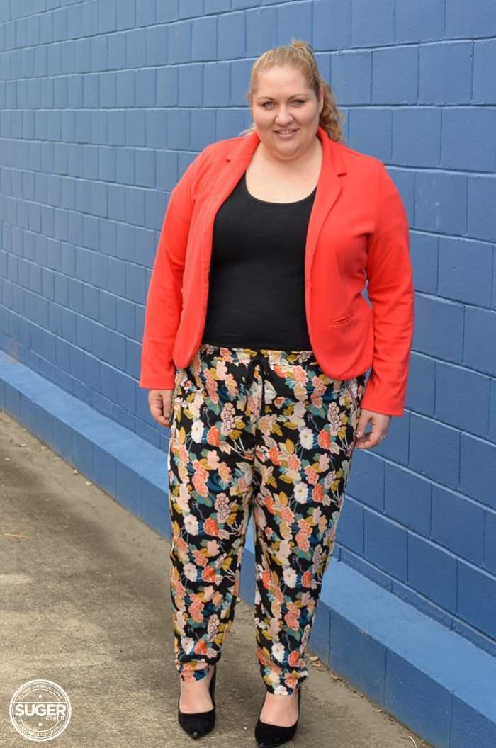 plus size asos curve floral pants outfit-3