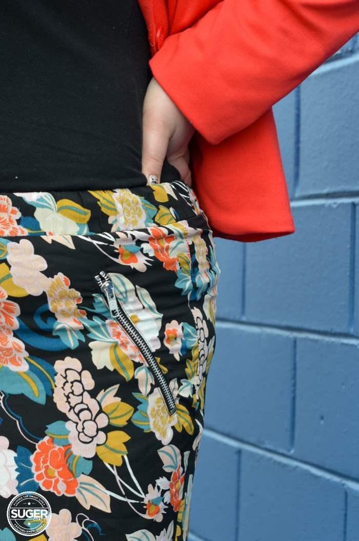 plus size asos curve floral pants outfit-9