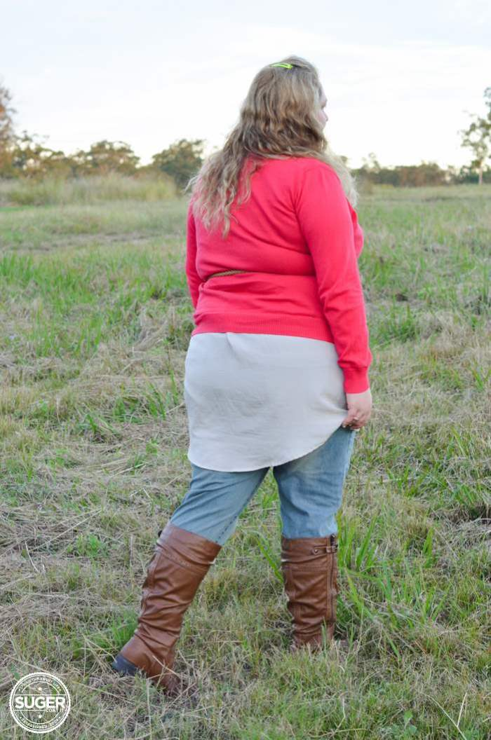 plus size winter layers outfit - aussie curves boho week-5