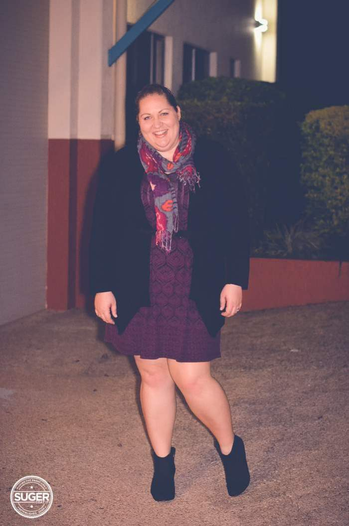 a plus size dress with boots outfit-2