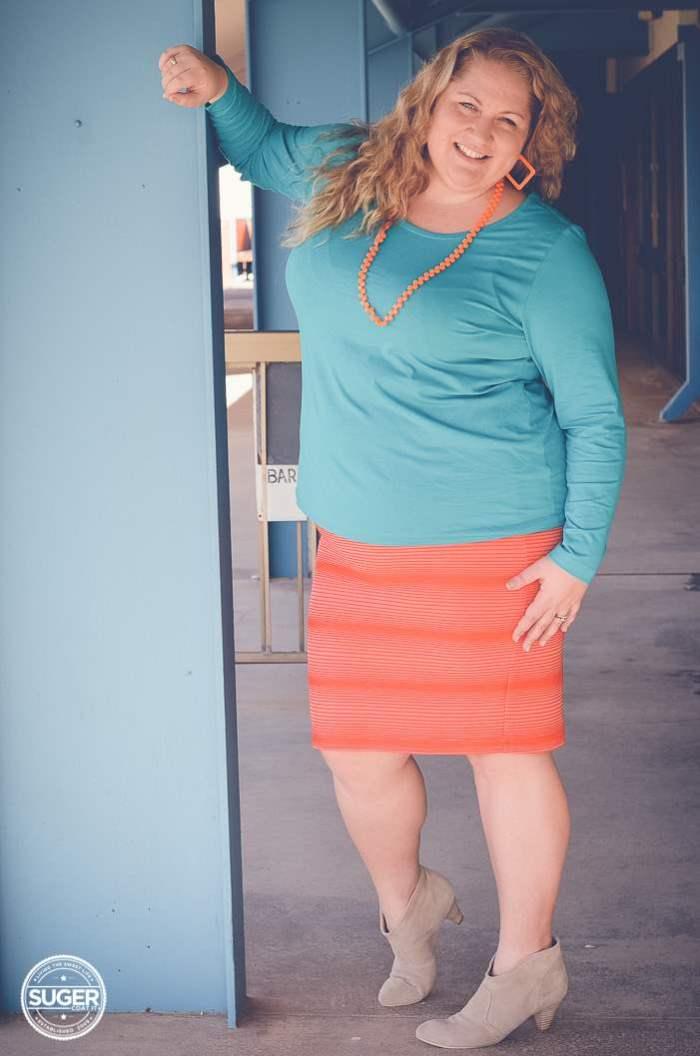 plus size fashion aussie curves colour clash outfit-3