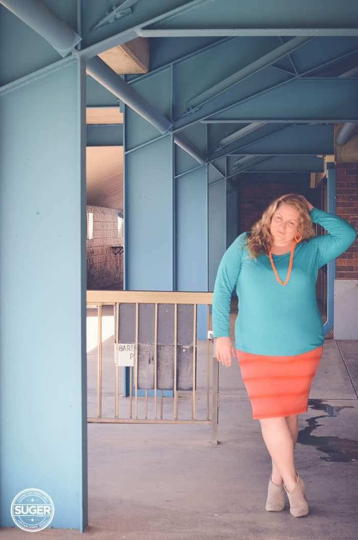plus size fashion aussie curves colour clash outfit-4