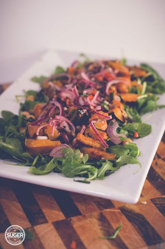 warm winter pumpkin and chickpea salad-7