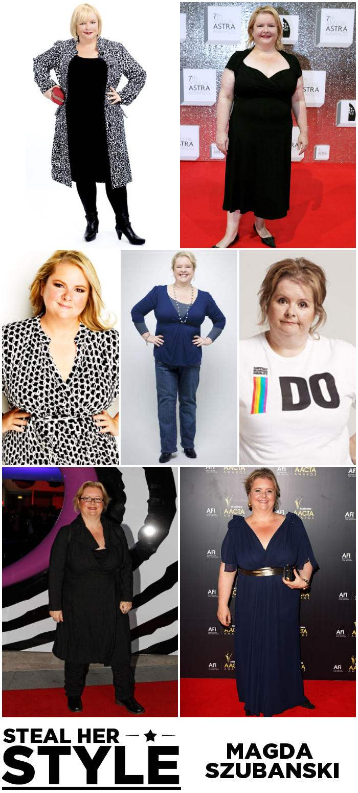 Magda Szubanski Steal Her sTyle Outfit Collage