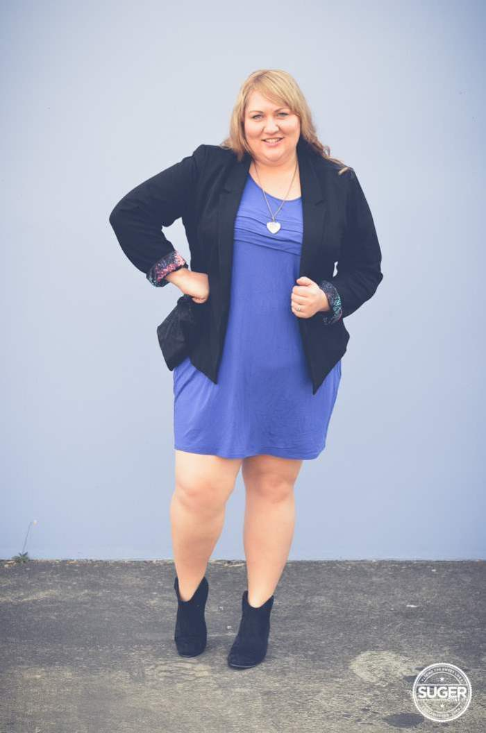 plus size mini with boots + blazer-2