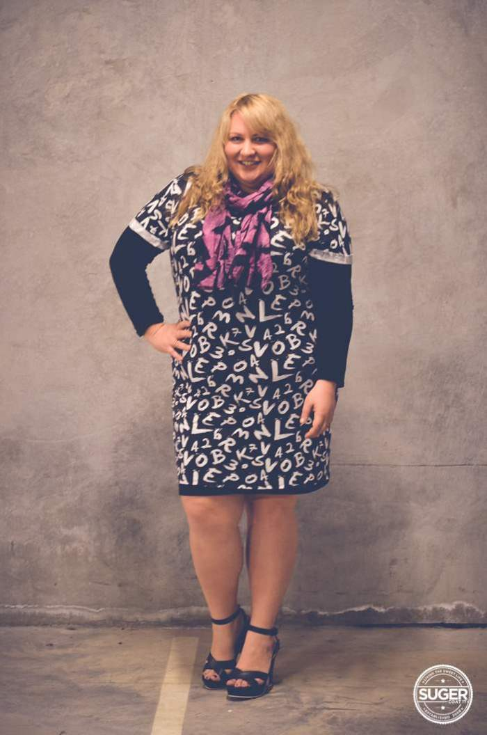 plus size mini dress with layers + heels-3