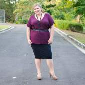 plus size office day to night outfit-3
