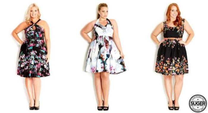 plus size floral dress for the races