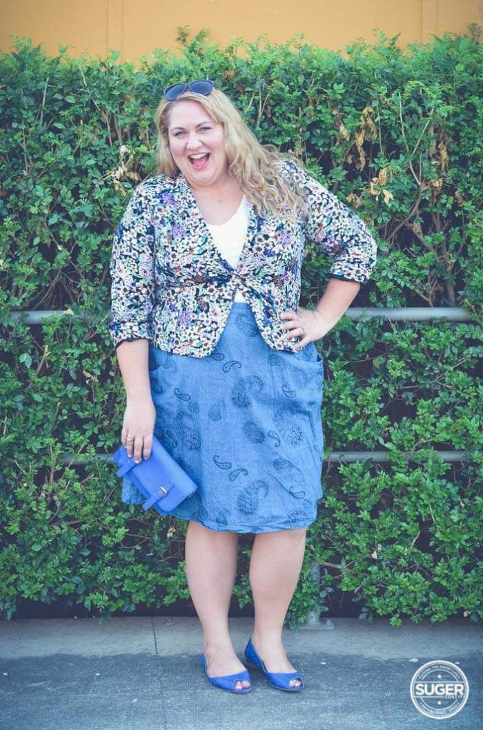 plus size casual ootd chambray + floral-3