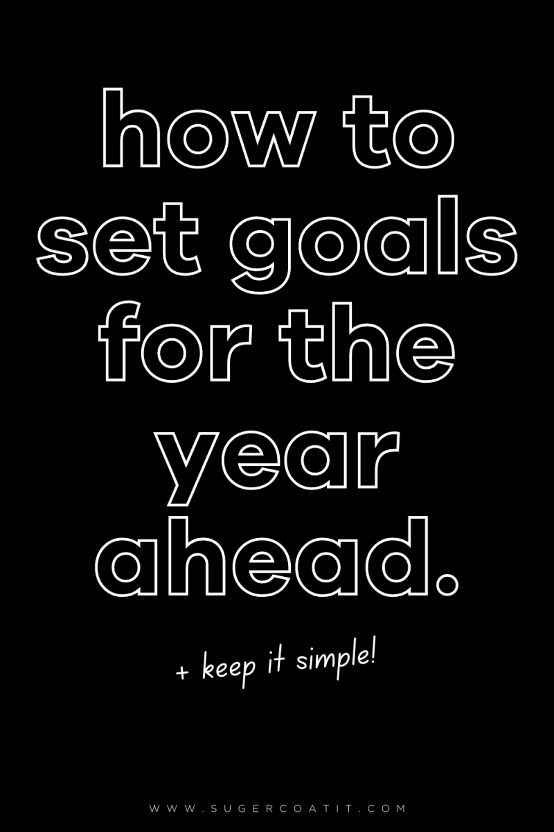 How to set goals for the year ahead; the simple way - Suger Coat It