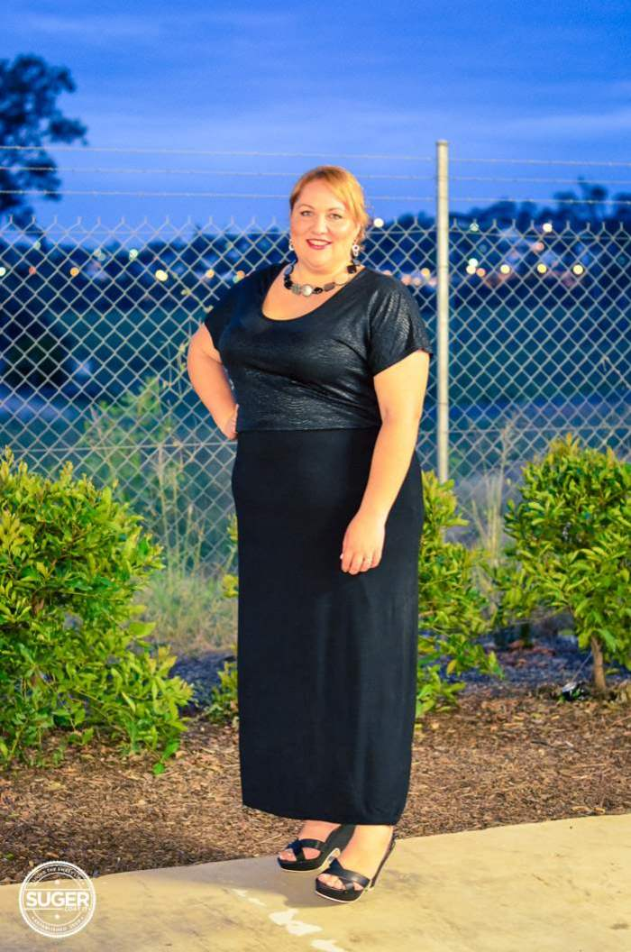 evening maxi skirt outfit plus size-10