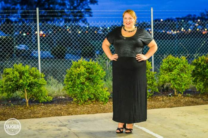 evening maxi skirt outfit plus size-12