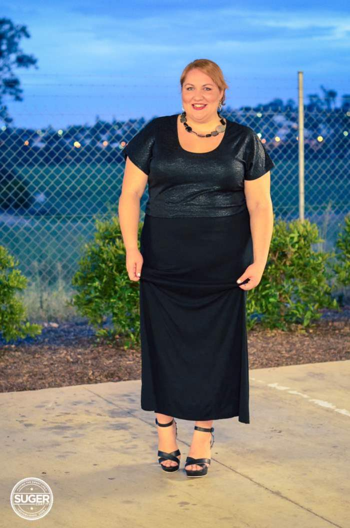 evening maxi skirt outfit plus size-3