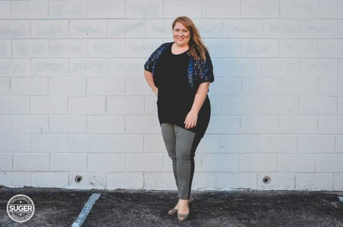plus size two tone pants for dinner -2