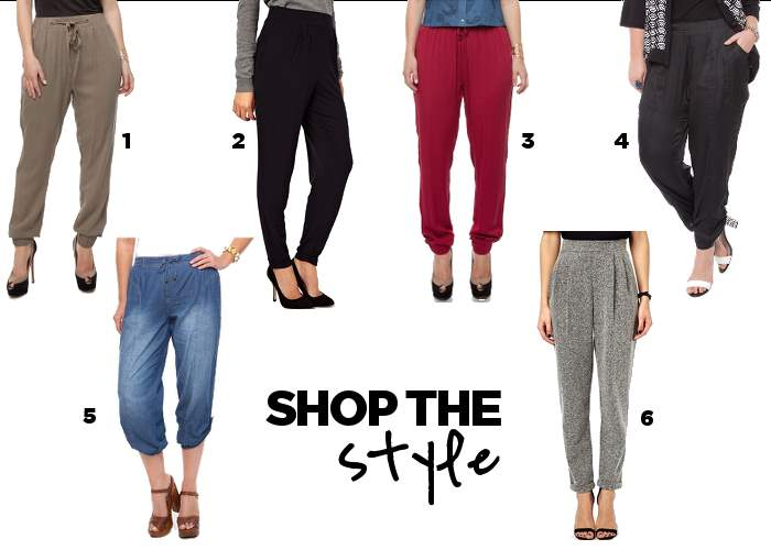 shop the style harem peg genie pants