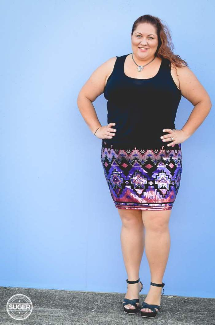 plus size sequin skirt fun outfit-6