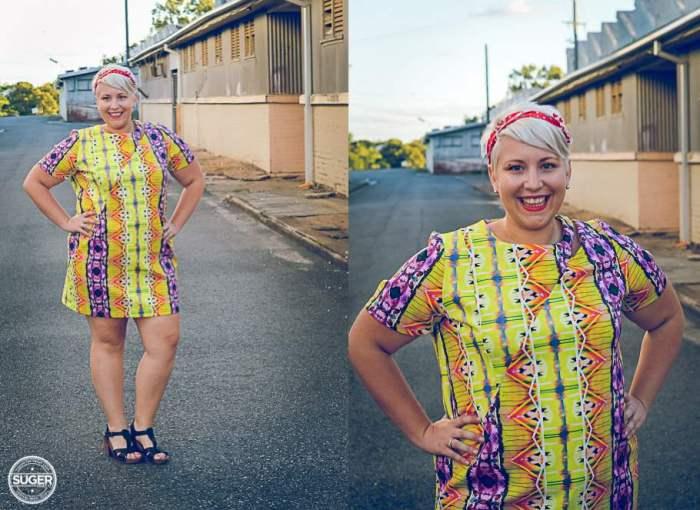 plus size fashion cut for evans yellow dress-001