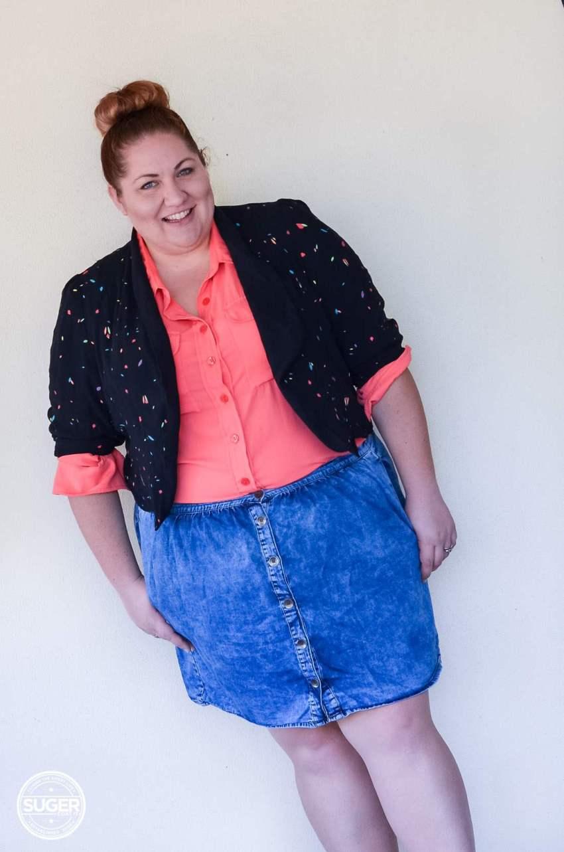 17 sundays jacket blouse + asos curve denim skirt-14