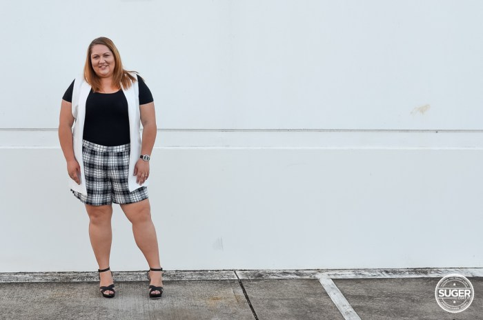 plus size shorts outfit for summer-4