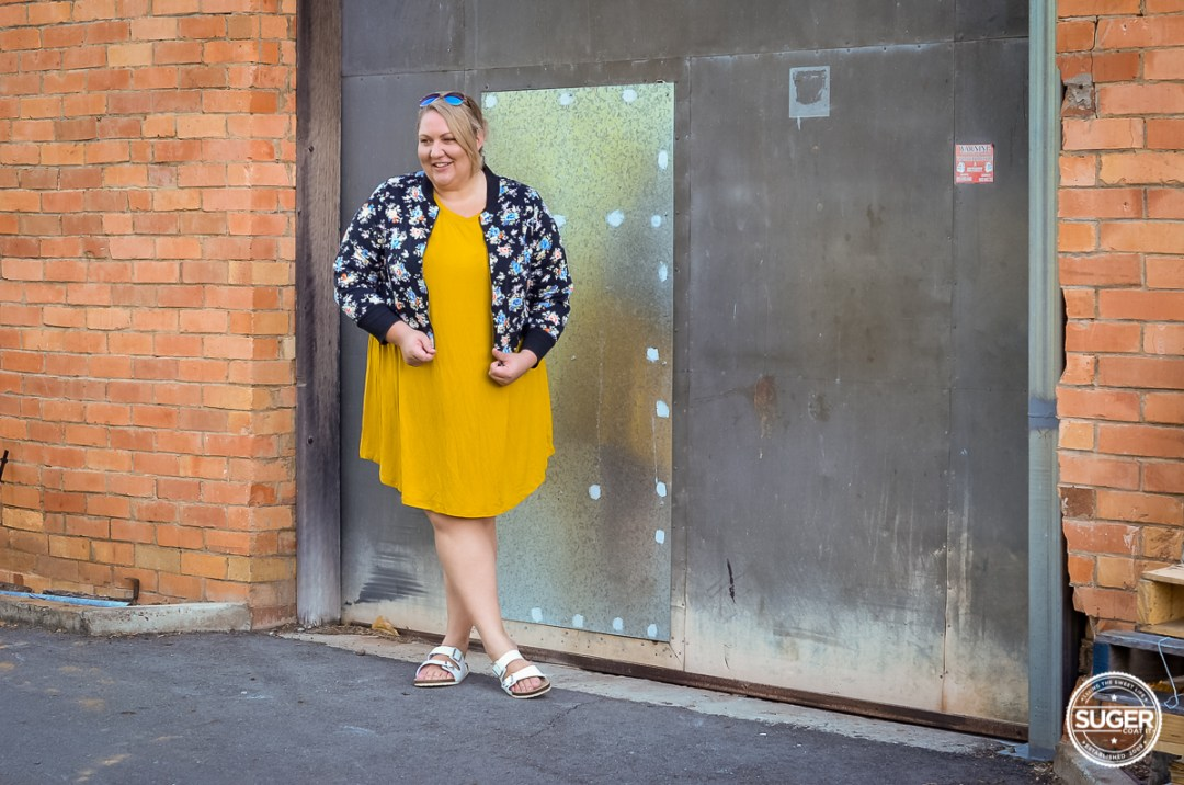plus size casual outfit asos curve swing dress floral bomber-3
