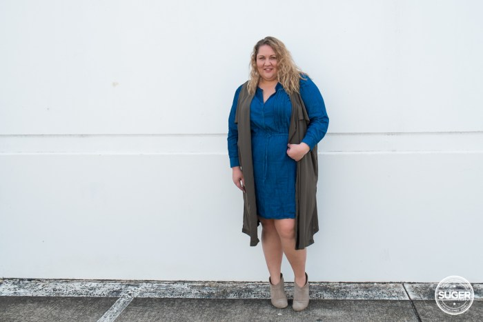 australian plus size fashion blogger chambray dress boots-3