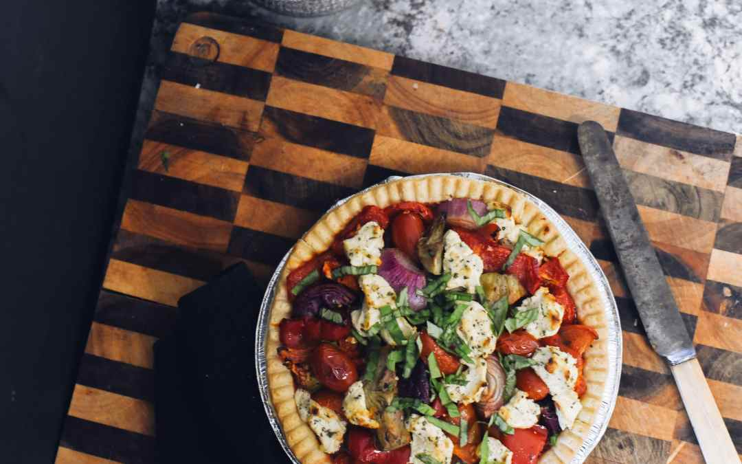 Antipasto Goat's Cheese Tart | Suger Coat It