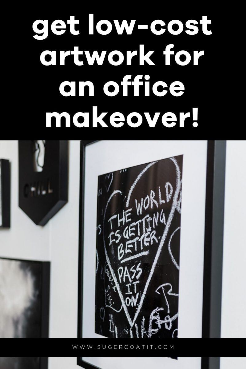 Low-cost artwork for my office makeover - Suger Coat It