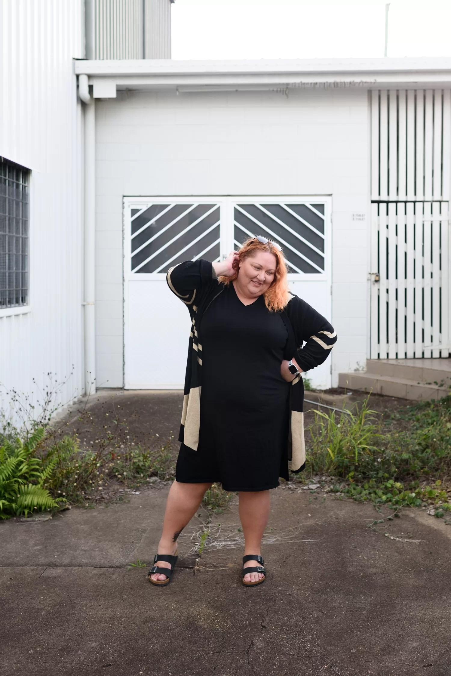 Plus Size Longline Cardigan Casual Birkenstock Outfit - Suger Coat It
