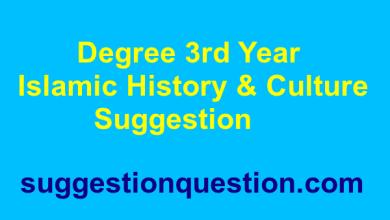 Degree 3rd Year Islamic History & Culture Suggestion ইসলামের ইতিহাস ও সংস্কৃতি সাজেশন ২০১৮