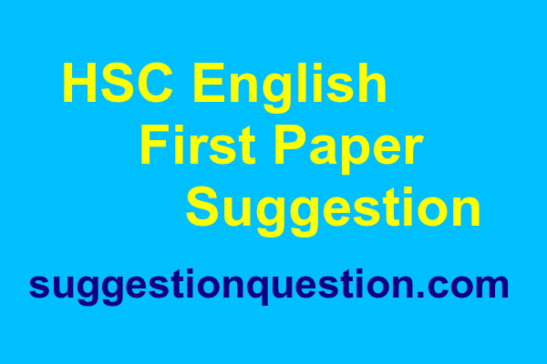 HSC English 1st Paper Suggestion 2019