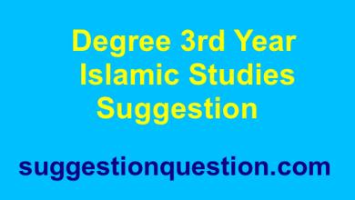 Degree 3rd Year Islamic Studies Suggestion ইসলামিক স্টাডিজ সাজেশন ২০১৮