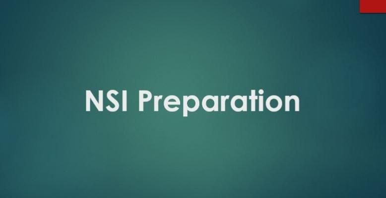 NSI Preparation 2019
