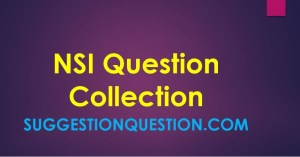 NSI Previous Question