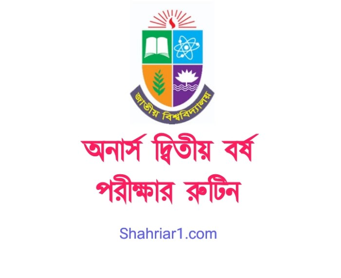 Honours 2nd Year New Routine 2021 PDF Download (Revised/Changed)