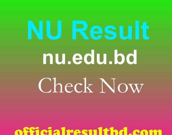 NU Result 2021 www.nu.edu.bd Result 2021